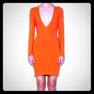 AQ/AQ Orange Bandstand MIDI Dress
